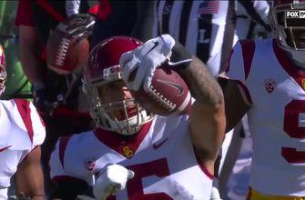 USC safety Talanoa Hufanga's interception sets up Trojans' touchdown, lead Arizona 7-0