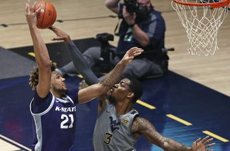 K-State keeps it close in first half but falls to No. 10 West Virginia 65-43