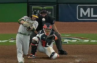 Jed Lowrie's two-run single extends Athletics lead over Astros to 6-0