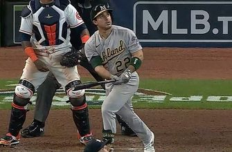 Ramon Laureano demolishes 415-foot homer to extend Athletics lead over Astros to 4-0