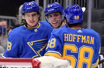 Blues' Thomas out against Wild with upper-body injury; Hoffman to rejoin lineup