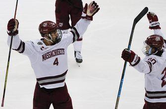 Blues prospect Kessel scores as UMass wins NCAA hockey title