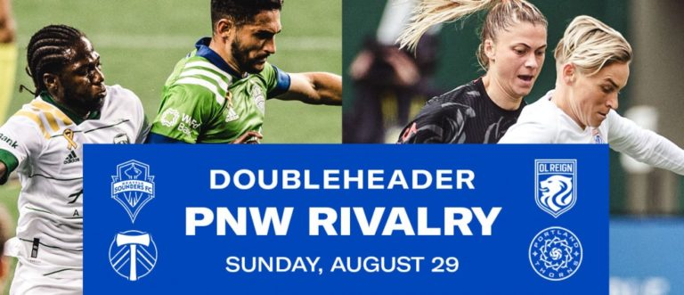 OL Reign and Sounders FC announce home doubleheader