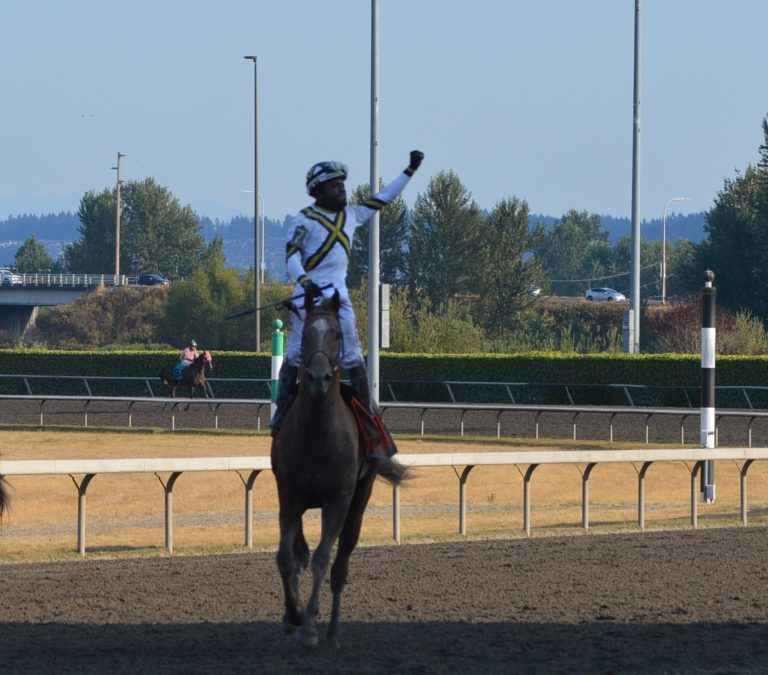 Emerald Downs: Background nails Windribbon on the wire to win the 86th Longacres Mile