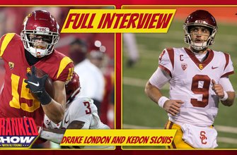 USC's Kedon Slovis, Drake London and Clay Helton on Mike Evans comparisons and all-time Pac-12 list   Pac 12 Media Days Special