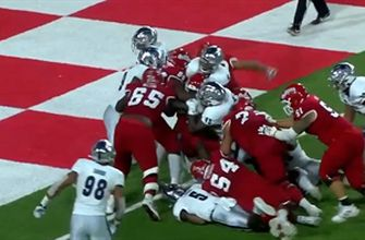 Jordan Mims powers his way into the end zone for a seven-yard TD, Fresno State extends lead over Nevada, 28-16